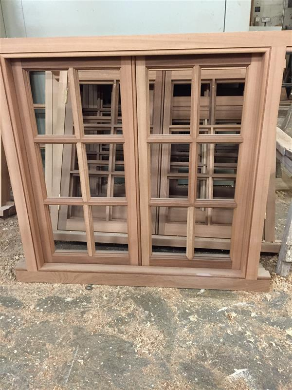 Hardwood casement windows